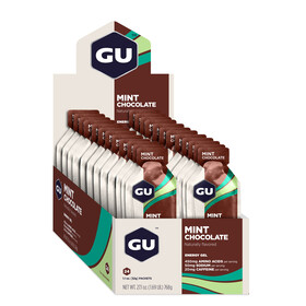 GU Energy Gel Box Sports Nutrition Mint Chocolate 24 x 32g